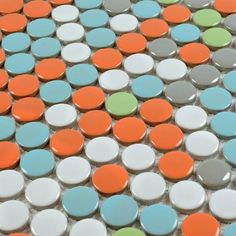 Colourful Penny Tile