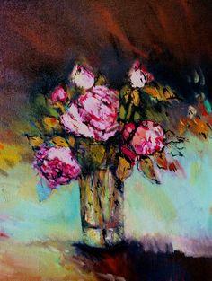 Sherbet roses by Liesel Brune