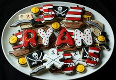 Look, cookies for Ryan's Pirate Birthday! You know he wants a Pirate Birthday! Arrr ;()