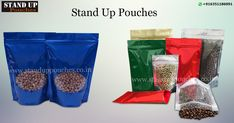 #Standuppouches in an option of either a #stock or #custompouch. Minimum quantity order for #stockpouches are1000 units and #custompouches have a minimum order of 15000 units. #standuppouches #coffeebags #sidegussetbags #paperbags etc.....  more whatsapp. + 91 6351186091