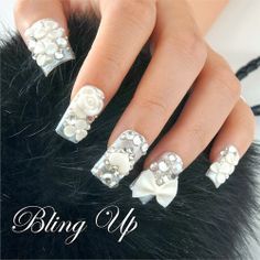 3D wedding nail art