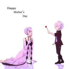 HAPPY MOTHER'S DAY~! ❤️ and kawaii ^^ to how Subaru trying to give a rose to his mother.
