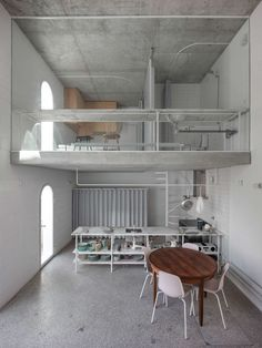 the 'dodged house' in lisbon by daniel zamarbide and leopold banchini pays a double tribute. on one hand to irving gill's architecture. Architecture Design, Contemporary Architecture, Concrete Architecture, Architect House, Flooring Options, House Made, Abandoned Houses, Concrete Floors, Concrete Art
