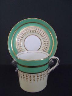 Vintage Set 2 Aynsley Demitasse Cup & Saucers Pattern Lynton-Green Circa 1930's. eBay $14.99