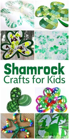 Shamrock Crafts for St Patrick's Day is part of Cute Kids Crafts Creative - Get in the spirit of St Patrick's Day by making one of these fun shamrock crafts for kids They's all so much fun! March Crafts, St Patrick's Day Crafts, Spring Crafts, Holiday Crafts, Holiday Ideas, Cute Kids Crafts, Toddler Crafts, Creative Crafts, Toddler Toys