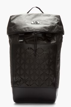 Y-3 Black Leather-Trimmed One-strap LX II Backpack