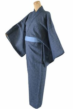 Yukata Kimono Robe Cotton Mens Size L Blue Japan Japanese Mt.Fuji L size 57 inches long, 28inches across from shoulder seam to shoulder seam.. 70%cotton 30% Hemp for comfort nice carp design yukata kimono comes with belt.. Comfortable light weight robe, perfect for relaxing. Easy to wear, comes with a tie belt. Cotton Hemp. Machine wash, cold water.. Halloween costumes. Father's day gift. Akiba ja... #Hitotoki #Apparel