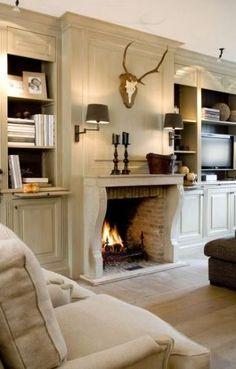 Cream wood-paneled walls and floors.