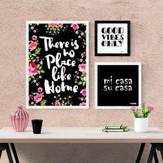 Kit Quadros Decorativos Home - Encadreé Posters