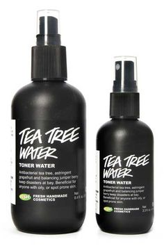 """2 Editors, 16 Beauty Products For Spring #refinery29  http://www.refinery29.com/beauty-editor-picks#slide2  Lush Tea Tree Toner Water   """"I went into Lush pretty recently to get a face mask, and a sales associate asked if I had ever used the brand's tea tree toner water. One spritz of this stuff was all it took. It's perfect for my combination skin, and even makes me feel a bit more awake in the morning. That last part's probably all in my head, but I'll take it."""""""