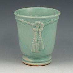 Hull Green Tassel Vase