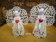 Crochet Angel Pattern, Crochet Earrings, Holidays, Quilts, Christmas Ornaments, Knitting, Holiday Decor, Good Ideas, Christmas