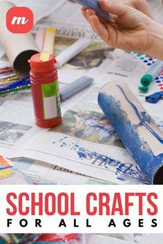 As your children get ready to go back to school, why not review some basic skills, or create and personalize supplies in preparation for heading into the classroom again? Young children in particular will benefit from simple DIY projects and basic instruction, while older students may enjoy tie-dying and labeling their belongings. Back To School Crafts For Kids, Going Back To School, Diy Home Crafts, Fun Crafts, Simple Diy, Easy Diy, Tie Dying, Fabric Pen, Middle Schoolers
