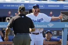 Clayton Kershaw gets ejected. 09-07-14