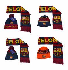 cda6c4574f9 FC Barcelona Scarf Reversible and Beanie hat Cap Soccer Official  Merchandise  Rhinox  FCBarcelona Messi