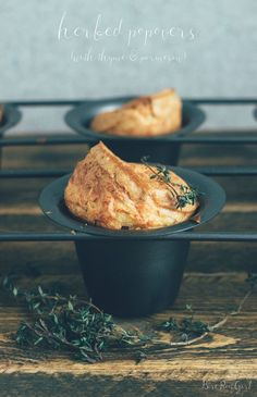 Herbed Popovers with Thyme and Parmesan made using Otto's Naturals ...