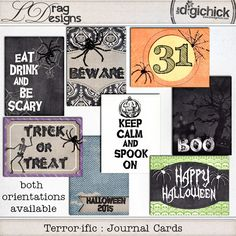 Terror-ific : Journal Cards by LDrag Designs