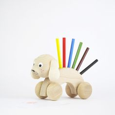 Simple and beautiful toys and gifts for children. Natural wooden toys, gift boxes, prints, home accessories for children. Handmade Wooden Toys, Pencil Holder, Kids Gifts, Dog Toys, Play, Children, Dogs, Kids, Doggies
