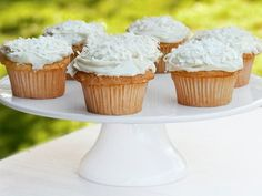Get Coconut Cupcakes With Cream Cheese Icing Recipe from Food Network