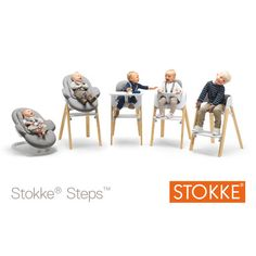 Stokke® Steps All-in-One System goes from baby bouncer to kid's high chair Chaise Stokke, Stokke High Chair, Baby Bouncer, The Sims, Our Baby, Baby Love, Baby Baby, Stokke Steps, Baby Chair