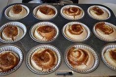 Recipe for cinnamon roll muffins.