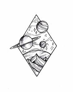 Doodle art 738731145115371515 - Source by Space Drawings, Cool Art Drawings, Pencil Art Drawings, Doodle Drawings, Easy Drawings, Doodle Sketch, Cool Simple Drawings, Pencil Sketching, Girl Drawings