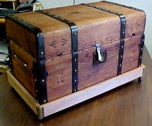 TO DO: Get the old trunk out of the basement for a make-over! Check out this site dedicated to refinishing trunks