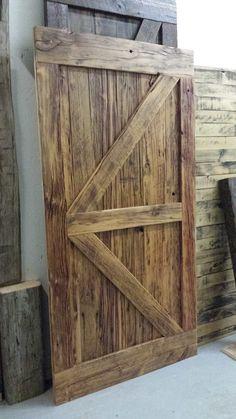 Items similar to Barn Door / Farmhouse Decor / Barn Board on Etsy Fold Out Table, Bypass Barn Door, Contemporary Barn, Pallet Projects, Pallet Ideas, Barn Wood, Rustic Barn, Folding Doors, Interior Barn Doors