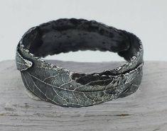 Three Leaf Ring-Black Ring-Unisex Ring-Rustic Ring-Woodland