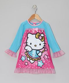 Take a look at this Pink & Aqua Hello Kitty Nightgown - Toddler by Hello Kitty on #zulily today!