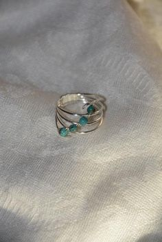 Silver Turquoise Ring by DevinelyCreated on Etsy Silver Rings, Turquoise, Trending Outfits, Unique Jewelry, Handmade Gifts, Etsy, Vintage, Kid Craft Gifts, Handcrafted Gifts