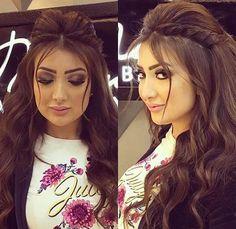 Gorgeous look Girl Hairstyles, Braided Hairstyles, Wedding Hairstyles, Hairdos, Beauty Makeup, Hair Makeup, Hair Beauty, Poofy Hair, Red Hair