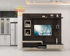 Bedroom Tv Unit Design, Lcd Unit Design, Tv Unit Bedroom, Tv Unit Furniture Design, Tv Unit Interior Design, Living Room Tv Unit Designs, Tv Wall Design, Ceiling Design, Tv Wall Unit Designs