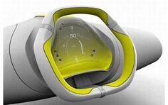 Automotive Cockpit Ergonomic Music Interface, Car Accessory, Safe Driving, Futurism