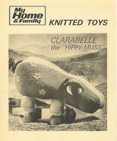 MHF Clarabelle Hippo vintage toy knitting pattern by Ellisadine