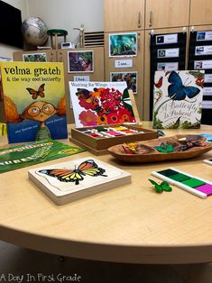 A Reggio inspired inquiry center. This center provided students the opportunity to look closer at butterflies. Literacy Centers, Literacy Activities, Science Curriculum, Readers Workshop, Reggio Emilia, Bugs And Insects, Butterflies, Opportunity, Inspired