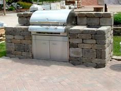 Click Share if you want an outdoor kitchen. – Back yard grill Outdoor Kitchen Plans, Backyard Kitchen, Outdoor Kitchen Design, Patio Design, Kitchen Modern, Outdoor Kitchens, Outdoor Grill Area, Outdoor Grill Station, Grill Gazebo