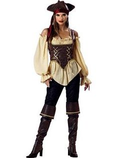 Elite Rustic Pirate | Cheap Designer Halloween Costume for Women