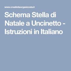 Schema Stella di Natale a Uncinetto - Istruzioni in Italiano