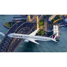 A7-BAO  flies past the world famous Sydney Harbour Bridge to celebrate Qatar Services out of Sydney 02/03/16 Photo Credit: australianaviation.com.au #airplane #airplanegeek #airplanelovers101 #airbusboeingaviation #boeing #boeing777 #777 #boeinglovers15 #boeinglovers #instagramaviation #instaplane #megaplane #plane #planes #planegeek #planeporn #plane_photos #planespotting #77W #avporn #boeingairbusaviation #sydneyoperahouse #sydney #qatar #qatarairways #sydneyharbour #sydneyharbourbridge by…