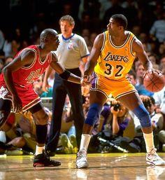Los dos mas grandes del baloncesto.