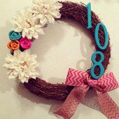 DIY Spring/summer burlap wreath...flowers and ribbon found at Hobby Lobby!