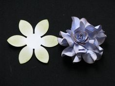 OK, so I have been researching techniques to manipulate paper to create ruffled flowers for a while now. I actually combined three paper tec...