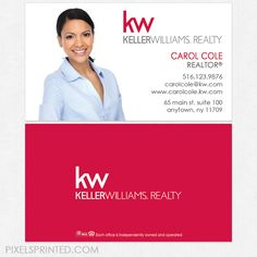 Classy keller williams realtor business card template design idea keller williams business cards flashek Images