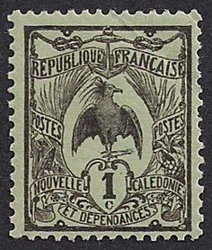Estampilla Nueva Caledonia, 1905-1928 - Kagu