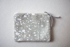 Splatter Leather Coin Purse