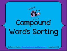 Sort, sort, sort! My students LOVE to cut and sort. Engage your students too in this hands-on compound words activity OR use it as a word work center activity.This packet has students identifying compound words and words that are not compound words.This packet includes 54 words, two category labels, a compound word ABC order/syllable recording sheet, and a compound word sorting recording sheet.I hope you enjoy this activity with your students.Please take a look at my other products and…