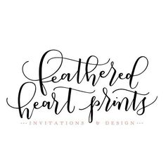 Happy Monday everyone!  Feathered Heart Prints is getting a facelift thanks to the lettering talent of @amandaarneill! I can't stop staring at my new logo  isn't she beautiful? See how pretty she is on our new website (link in profile)  What is the most exciting thing you have going on this Monday morning?