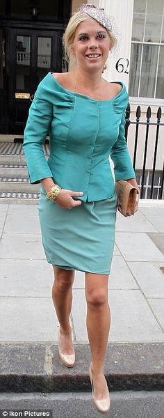 Wedding Guests: Chelsy Davy leaving her house for the wedding of Prince William and Catherine Middleton Royal Wedding 2011, Royal Weddings, Country Wedding Attire, William Kate Wedding, Prince William And Catherine, Prince Henry, Samantha Cameron, Chelsy Davy, Wedding Kiss