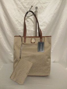 2cbe3638ab6 Tommy Hilfiger Bag Handbag Beige Tote 6935531 235 Authentic Free Shipping # TommyHilfiger #Tote
